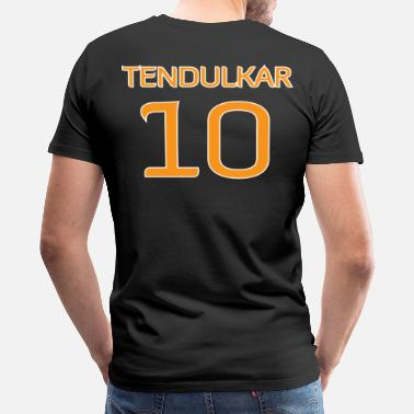 Cricket Designs Tendulkar #10 shirt / jersey (in honor of 2011 World Cup Champion Indian Cricket Team) - Men's Premium T-Shirt