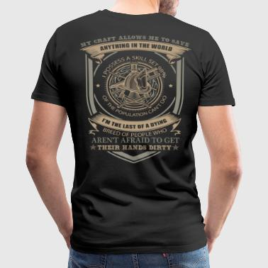 Firefighter firefighter stick figure firefighter - Men's Premium T-Shirt