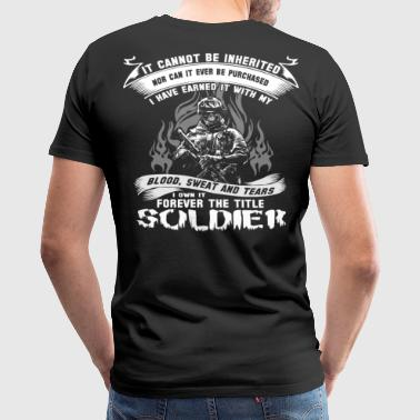 Love Warriors soldier fps soldier of fortune all i want for ch - Men's Premium T-Shirt
