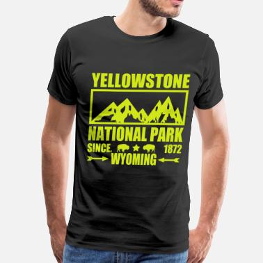 Yellowstone National Park Wyoming ASWE34567YTF.png - Men's Premium T-Shirt