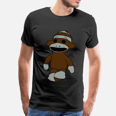 Sock Big Sock Monkey Tee - Men's Premium T-Shirt