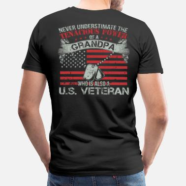 Us Veteran Police US veteran - My gandpa is also a US veteran - Men's Premium T-Shirt