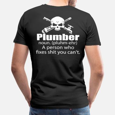 Cleavage plumber wrench plumber furniture plumber plumber - Men's Premium T-Shirt