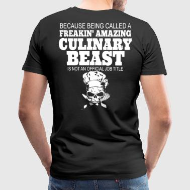 chef job, Chef Jacket, chef's hat, master chef - Men's Premium T-Shirt