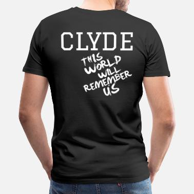 Bonnie Valentine's Day Matching Couples Clyde Slogan - Men's Premium T-Shirt