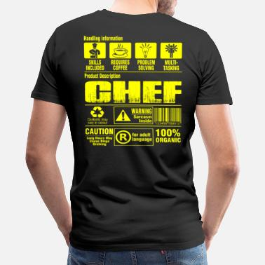 0f9dba4f1 Chef Chef pastry chef pampered chef cook chef grillma - Men's Premium T- Shirt