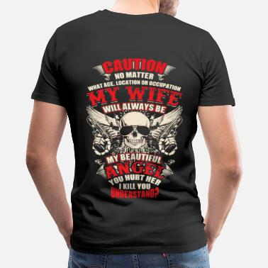 Right To Bear Arms Caution No matter what age, location or occupation - Men's Premium T-Shirt
