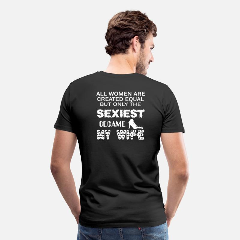Wife T-Shirts - SEXY WIFE - Men's Premium T-Shirt black