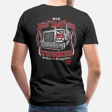 Mother Road Over the Road logo - Men's Premium T-Shirt