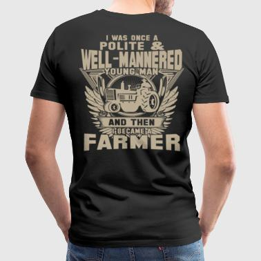 Farmer Funny Farmer dirty farmer  piglet farmer farmer farmer - Men's Premium T-Shirt