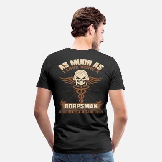 Navy T-Shirts - CORPSMAN  - Men's Premium T-Shirt black