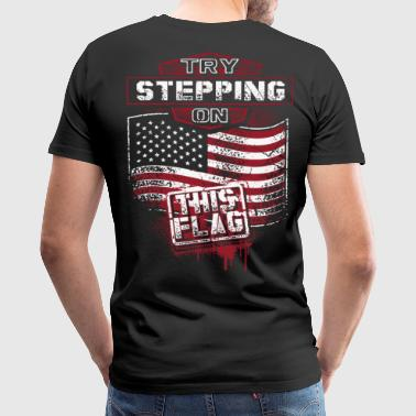 Gun Owning American, 2nd amendment, veteran pride - Men's Premium T-Shirt