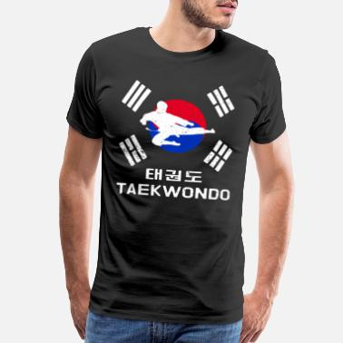 Tae Kwon Do Taekwondo Korea flag hangul - Men's Premium T-Shirt