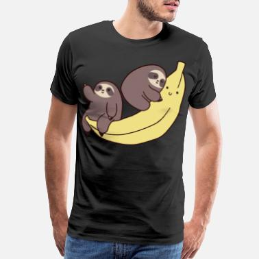 Thought Sloths and Giant Banana - Men's Premium T-Shirt
