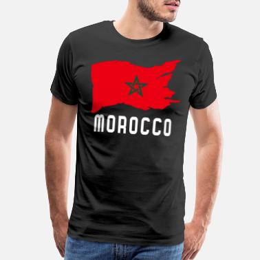Morocco Flag - Men's Premium T-Shirt