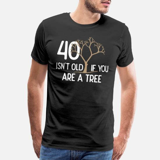 40th Birthday Gift 40 Years Old Dad Uncle Brother Mens Premium T