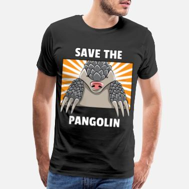 Woman Love Pangolin Lovers Funny Cute Specie Save Gift - Men's Premium T-Shirt