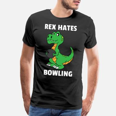 Bowling Alley Dinosaur Bowling Bowling Player Dino Gift - Men's Premium T-Shirt