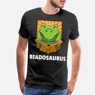 Bookworm Dino Read Book Reading Rex Lovers Funny Cute Gift - Men's Premium T-Shirt