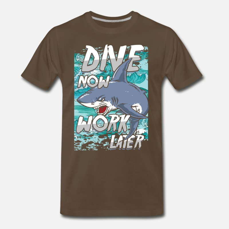 Ladies Diving Fish Shark Diver diver mask funny Birthday Gift tshirt T-SHIRT