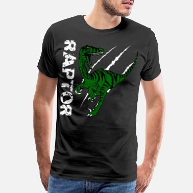 Carnivores Raptor Dino Lovers Gift Idea Design Motif - Men's Premium T-Shirt