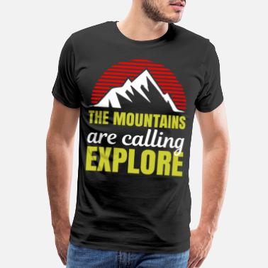 Lust The mountains are calling explore - Men's Premium T-Shirt