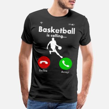 Rebound Basketballer Basketball Hoop Slam Dunk Gift Idea - Men's Premium T-Shirt