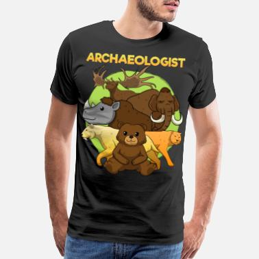 Stone Age Ice Age Animals Stone Age Mammoths - Men's Premium T-Shirt