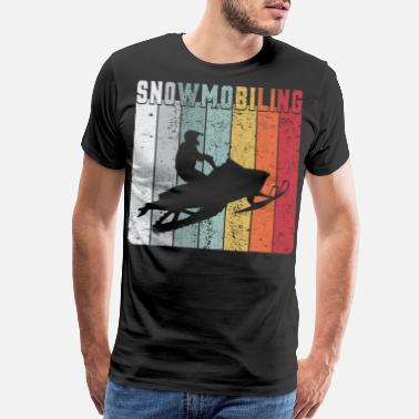 Sled Vintage Sled Lover Snowmobile Rider Snowmobiling - Men's Premium T-Shirt