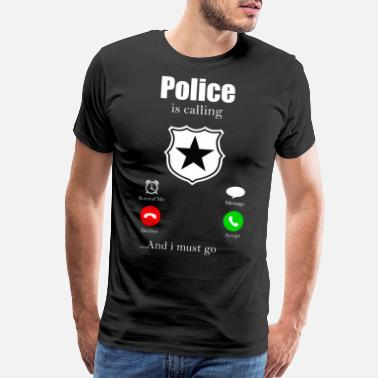 Handcuff Police Handcuffs Officer Flashing Lights Cop - Men's Premium T-Shirt