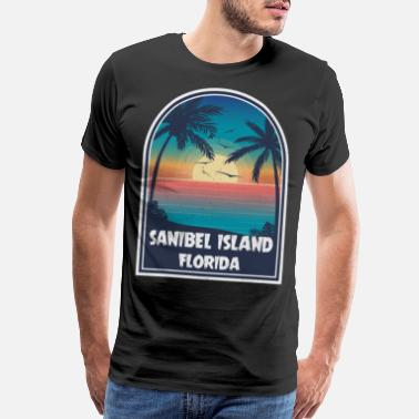 Classic Vintage Sanibel Island Florida Retro Travel - Men's Premium T-Shirt