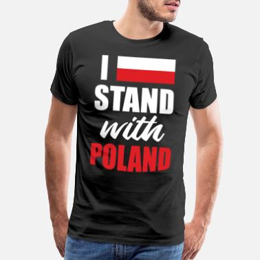 Beer I Stand With Poland Gifts - Men's Premium T-Shirt