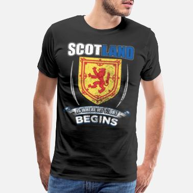Highland Scotland Is Where My Story Begins Gift Idea - Men's Premium T-Shirt