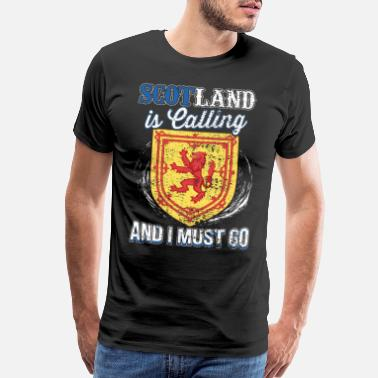 Irish Celtic Scotland Is Calling And I Must Go Gift Idea - Men's Premium T-Shirt