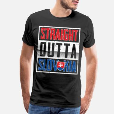 National Colours Straight Outta Slovakia Gift - Men's Premium T-Shirt