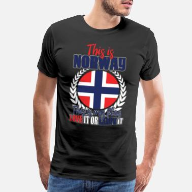 Heritage This Is My Flag Norway Gift - Men's Premium T-Shirt
