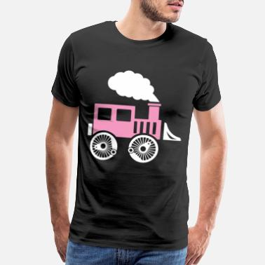 Steam Locomotive train gift steam locomotive children fast - Men's Premium T-Shirt