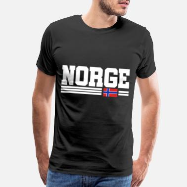 Ferry Norway gift map banner flag - Men's Premium T-Shirt