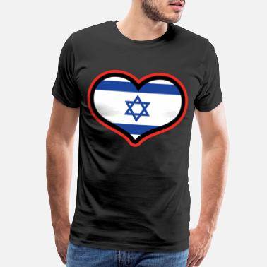 Israel Palestine Israel Gift Card Flag Banner Holiday Travel - Men's Premium T-Shirt