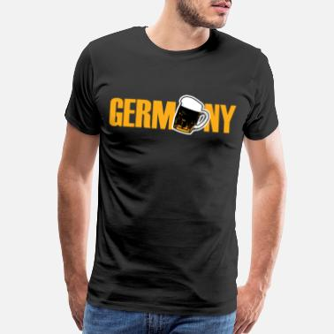 Gold Yellow Germany gift card outline flag banner - Men's Premium T-Shirt