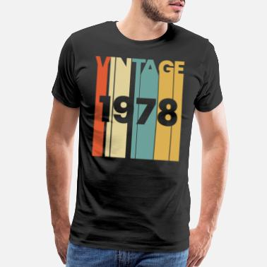 1978 1978 born in birthday year birth date vintage gift - Men's Premium T-Shirt