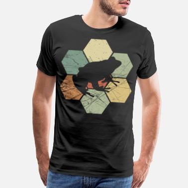 Robber Frog toad gift present retro vintage animal nature - Men's Premium T-Shirt