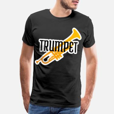 Presents Boyfriend Trumpet player gift instrument trumpeter jazz band - Men's Premium T-Shirt
