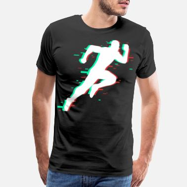 Sprinters Running sprinter sprint gift sports training run - Men's Premium T-Shirt