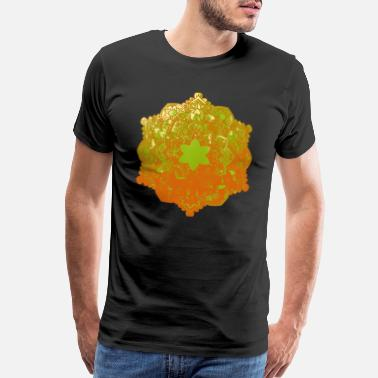 Flora Beautiful mandala drawing shape icon - Men's Premium T-Shirt