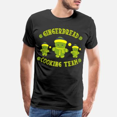 Team Santa Gingerbread cooking team christmas - Men's Premium T-Shirt