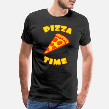Heart Piece Pizza time with pizza piece - Men's Premium T-Shirt