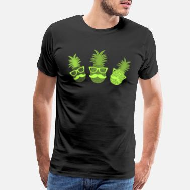 Juice Hipster pineapple party colorful fruits - Men's Premium T-Shirt