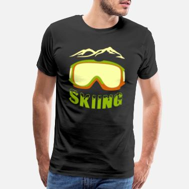 Winter Sports Ski goggles goggle skier snow sport cool - Men's Premium T-Shirt