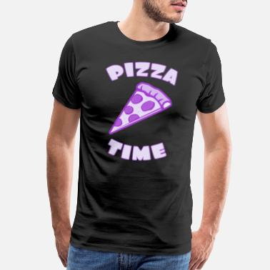 Pizza Love Pizza time with pizza piece - Men's Premium T-Shirt